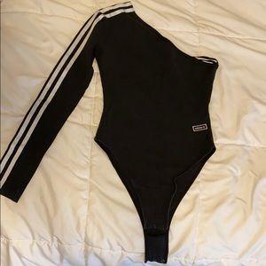 One Shoulder Adidas Bodysuit